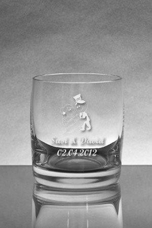 Wasserglas als hochzeitsgeschenk