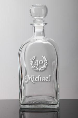 whiskeyflasche zum jubiläum