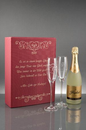 3er Sekt Geschenkset Cheers Als Hochzeitsgeschenk Gk