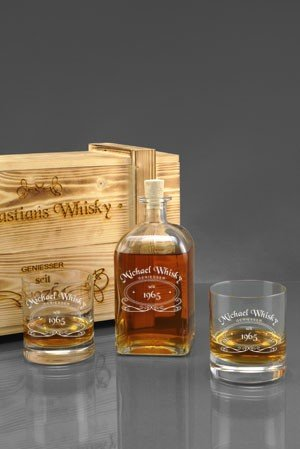 Whisky-Geschenk-Set mit Gravur