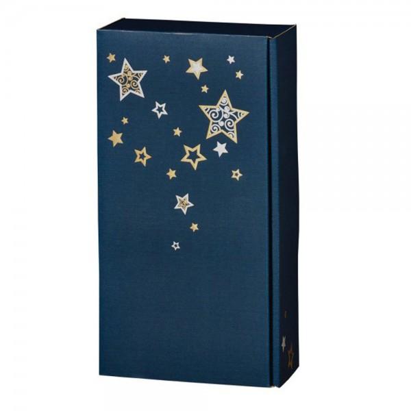 2er Geschenkverpackung ✷ Weihnachts-Sterne ✷ (blau)