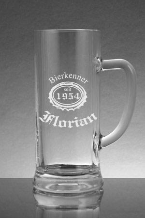 Ein Bierkrug Mit Bierlogo Graviert Zum Geburtstag Gravurwelt24