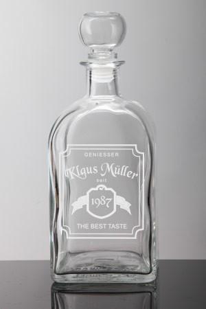 whiskyflasche graviert