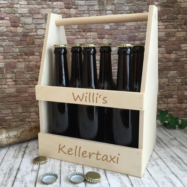 Bierträger mit Gravur