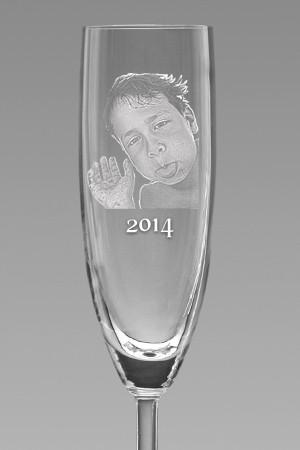 Sektglas als Muttertagsgeschenk