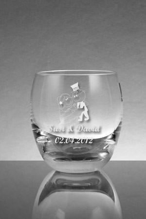 Whiskeyglas zur Hochzeit graviert