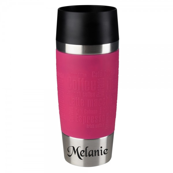 emsa thermobecher pink mit name