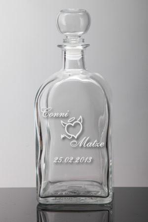whiskeyflasche mit gravur