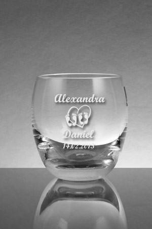 Whiskeyglas graviert mit Herzen