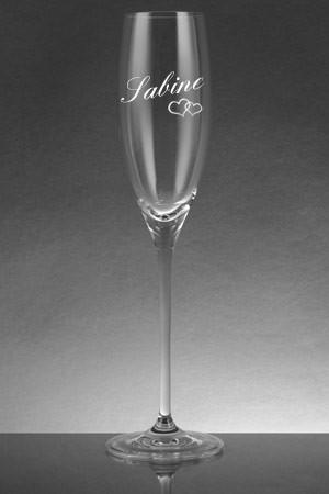 Sektglas mit Gravur Name