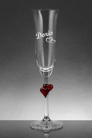 Sektglas graviert mit Name