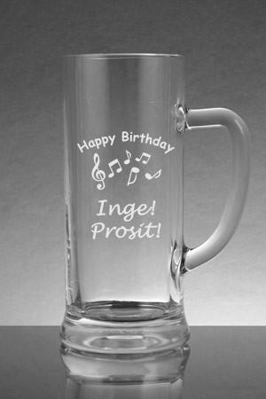 Bierkrug als Geburtstagsgeschenk