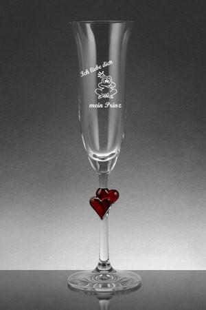 Sektglas mit Gravur Comic