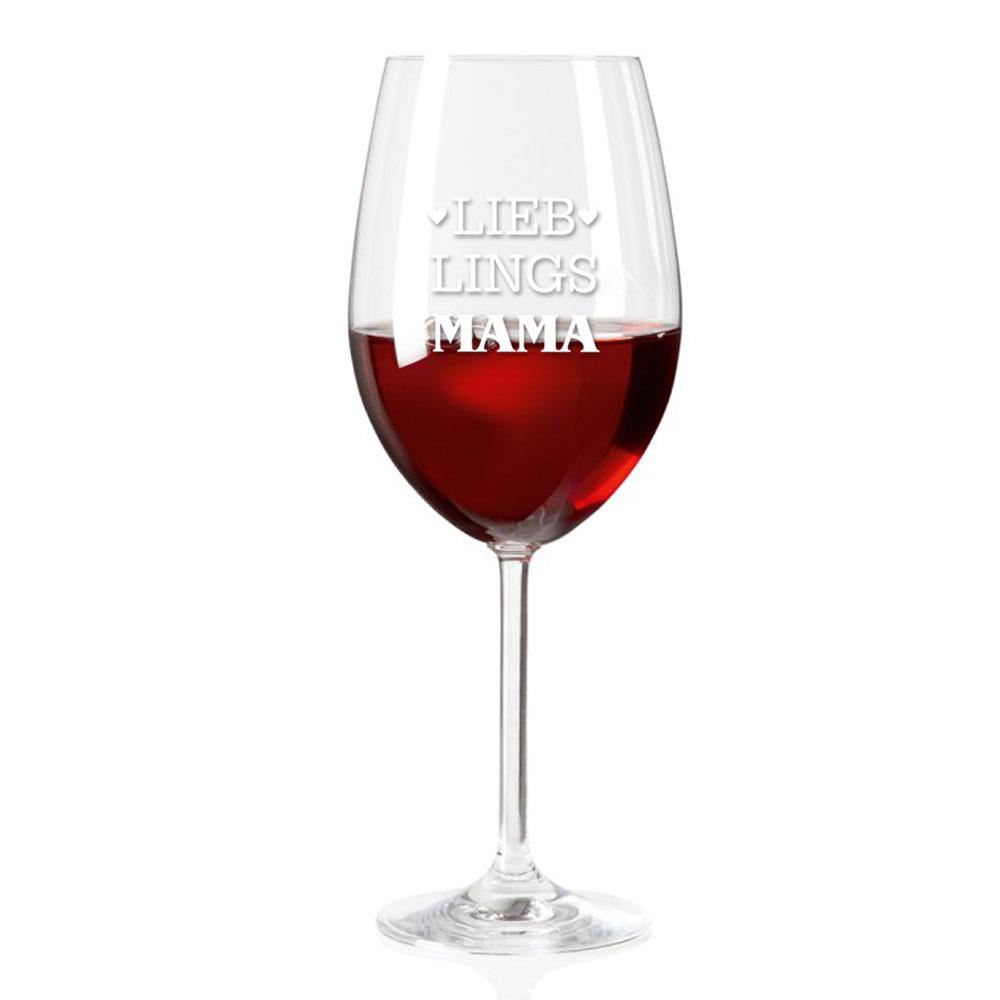 Weinglas graviert für Mama
