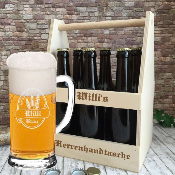 graviertes bierset